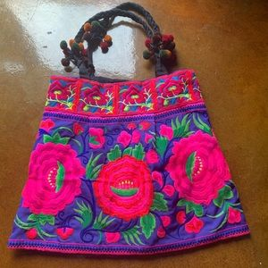 Boho Embroidered Hmong Weekender Bag